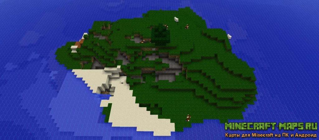 Выброшенный на берег карта для minecraft